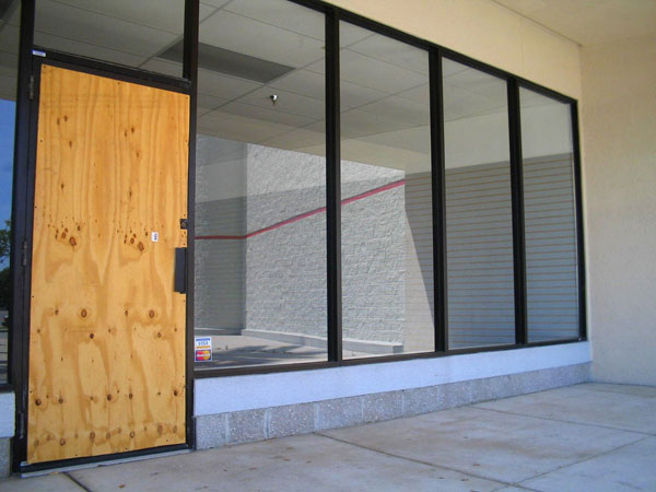Double Glazing Leeds - Plywood Door 2